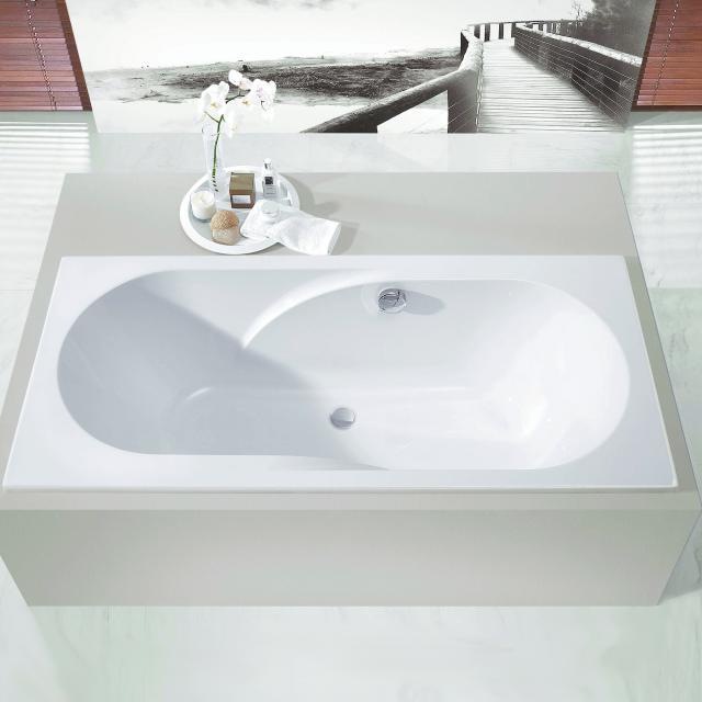 Hoesch REGATTA Rechteck-Badewanne mit Mittelablauf weiß