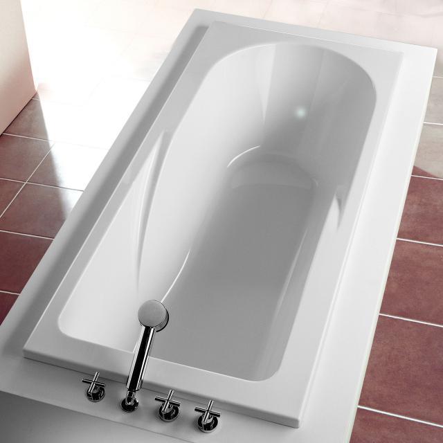 Hoesch REGATTA Rechteck-Badewanne mit Duschzone weiß