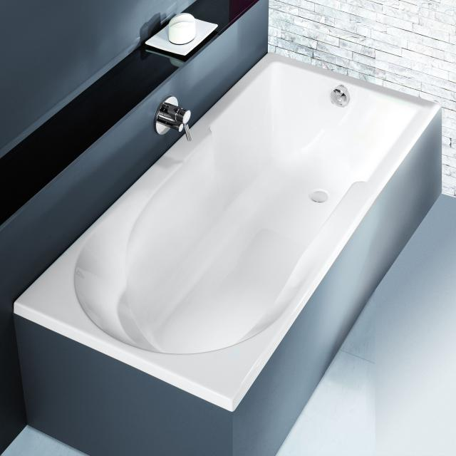 Hoesch SPECTRA Rechteck-Badewanne mit Duschzone weiß