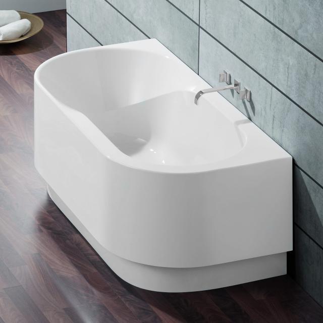 Hoesch SPECTRA Vorwand-Badewanne mit Verkleidung weiß