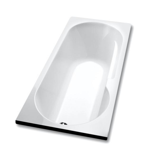 Hoesch TOPEKA Rechteck-Badewanne mit Duschzone, Einbau