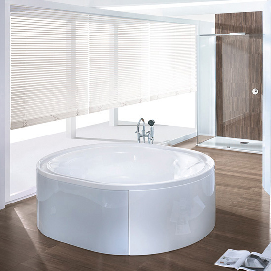 hoesch ergo oval badewanne freistehend wei verkleidung acryl wei glas schwarz 6442. Black Bedroom Furniture Sets. Home Design Ideas