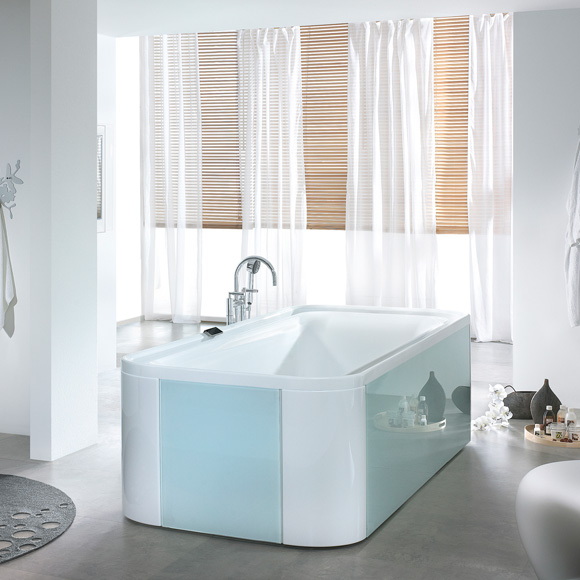 hoesch ergo rechteck badewanne freistehend wei verkleidung acryl wei glas wei 6441. Black Bedroom Furniture Sets. Home Design Ideas
