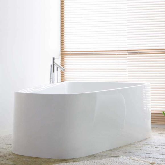 hoesch singlebath duo badewanne freistehend berlauf links wei reuter. Black Bedroom Furniture Sets. Home Design Ideas