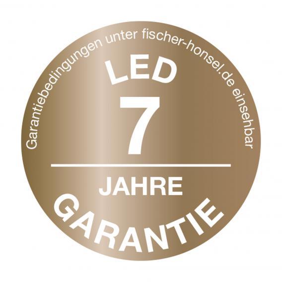 Fischer & Honsel Mainz LED Wandleuchte mit Ein-/Ausschalter, eckig