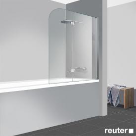 Reuter Kollektion Easy Neu Badewannenaufsatz, 2-teilig ESG klar hell / chrom optik