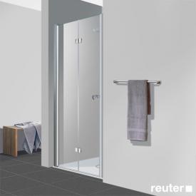Reuter Kollektion Easy Neu Drehfalttür in Nische klar hell PerlClean / chrom optik