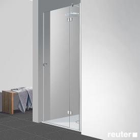 Reuter Kollektion Easy Neu Tür in Nische ESG klar hell PerlClean / chrom optik