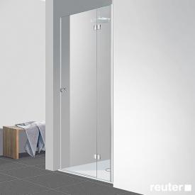 Reuter Kollektion Easy Neu Tür in Nische ESG klar hell / chrom optik, WEM 78-81 cm