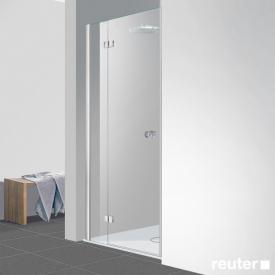 Reuter Kollektion Easy Neu Tür in Nische klar hell PerlClean / chrom optik, WEM 88-91 cm