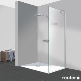Reuter Kollektion Easy Neu Walk-In Seitenwand ESG klar hell PerlClean / chrom optik