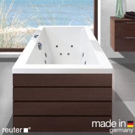 Reuter Kollektion Komfort Rechteck-Whirlwanne mit Whirlsystem Premium mit Ab- und Überlaufgarnitur mit Wassereinlauf