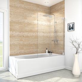 Reuter Kollektion Premium Free Badewannenaufsatz, 2 bewegliche Elemente