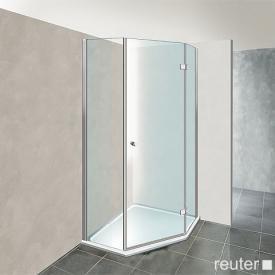 Reuter Kollektion Premium Fünfeck mit 1 Drehtür 100 x 100, Tür 69 cm