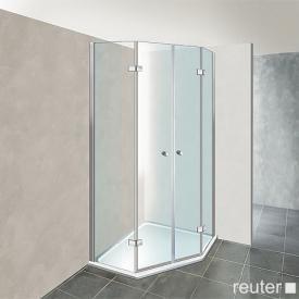 Reuter Kollektion Premium Fünfeck mit zwei Drehtüren 100 x 100, Tür 69 cm