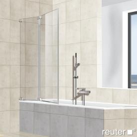 Reuter Kollektion Premium rahmenlos Badewannenaufsatz, 2-teilig