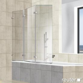 Reuter Kollektion Premium rahmenlos Badewannenaufsatz, 3-teilig