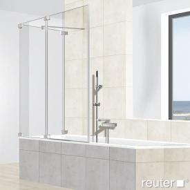 Reuter Kollektion Premium rahmenlos Badewannenaufsatz, 2-teilig an Seitenwand
