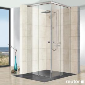 Reuter Kollektion Premium rahmenlos Eckeinstieg deckenhoch B: bis 140/140 H: bis 260 cm
