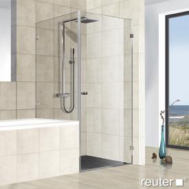 Reuter Kollektion Premium rahmenlose Tür mit Nebenteil und kurzer Seitenwand