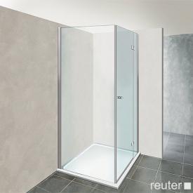 Reuter Kollektion Premium Tür mit Seitenwand 90 x 90, Tür 65 cm