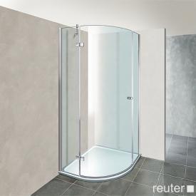 Reuter Kollektion Premium Viertelkreis mit 1 Drehtür 100 x 90, Radius 55 cm