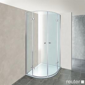 Reuter Kollektion Premium Viertelkreis mit 2 Drehtüren 80 x 80, Radius 50 cm