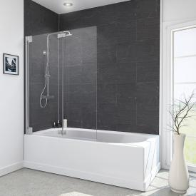 Reuter Kollektion Style Badewannenaufsatz, 2 bewegliche Elemente