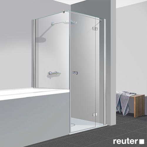 reuter kollektion easy neu t r mit seitenwand klar hell chrom optik wem 87 5 90 cm. Black Bedroom Furniture Sets. Home Design Ideas