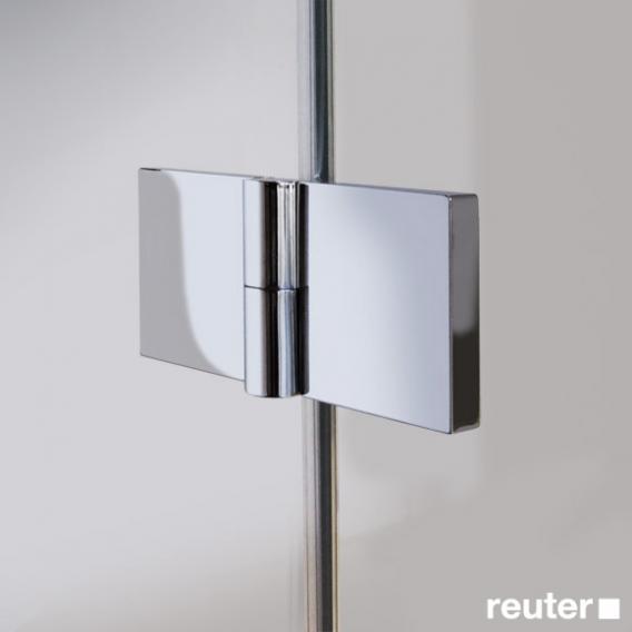 Reuter Kollektion Easy Neu Badewannenaufsatz, 2-teilig ESG klar hell PerlClean / chrom optik