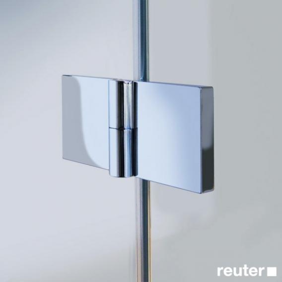 Reuter Kollektion Easy Neu Eckeinstieg ESG klar hell / chrom optik, WEM 88,5-90,5 cm