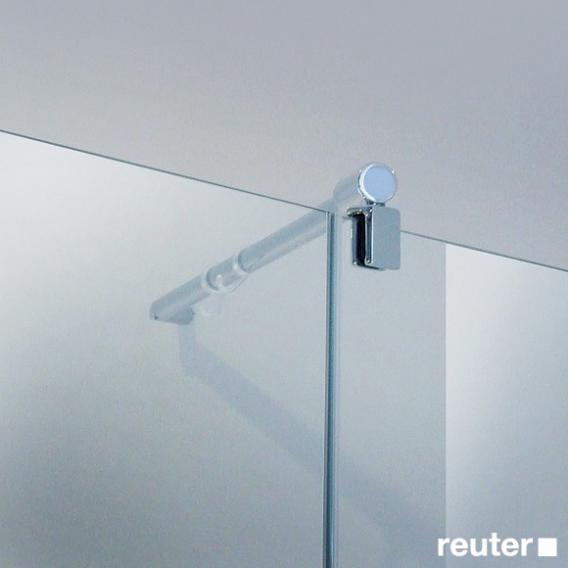 Reuter Kollektion Easy Neu Tür mit Seitenwand ESG klar hell / chrom optik, WEM 98,5-100 cm