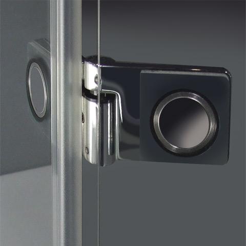 Reuter Kollektion Premium rahmenlose Tür mit Seitenteil und kurzer Seitenwand