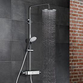 HSK AquaSwitch RS 200 Thermostat Shower-Set mit Kopfbrause Ø 250 Höhe 8 mm schwarz
