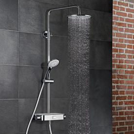 HSK AquaSwitch RS 200 Thermostat Shower-Set mit Kopfbrause Ø 250 Höhe 8 mm weiß