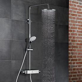 HSK AquaSwitch RS 200 Thermostat Shower-Set mit Kopfbrause flach schwarz