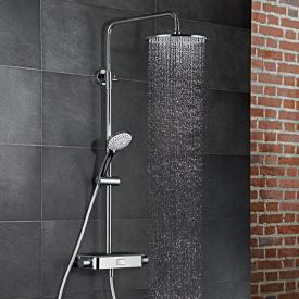 HSK AquaSwitch RS 200 Thermostat Shower-Set mit Kopfbrause flach schwarz