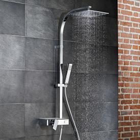 HSK AquaSwitch RS 500 Mix Einhebelmischer Shower-Set mit Kopfbrause flach weiß