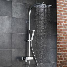 HSK AquaSwitch RS 500 Mix Shower-Set mit Kopfbrause 250 x 250 mm, Glasfarbe schwarz