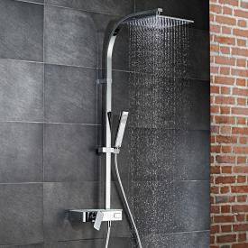 HSK AquaSwitch RS 500 Mix Shower-Set mit Kopfbrause B: 250 H: 8 T: 250 mm Glasfarbe weiß