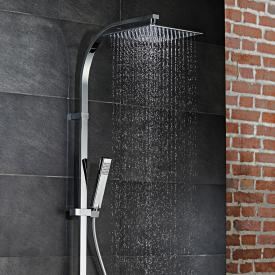 HSK AquaSwitch RS 500 Thermostat Shower-Set mit Kopfbrause 250 x 250 mm, Glasfarbe schwarz