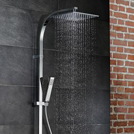 HSK AquaSwitch RS 500 Thermostat Shower-Set mit Kopfbrause flach schwarz