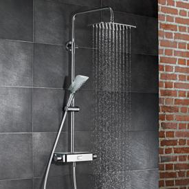 HSK AquaSwitch Softcube Aufputz-Thermostat mit Kopfbrause 300 x 200 mm, Glasfarbe schwarz