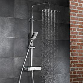 HSK AquaSwitch Softcube Thermostat Shower-Set mit Kopfbrause super-flach schwarz