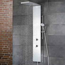 HSK Duschpaneel Lavida Plus B: 250 H: 2220 T: 670 mm edelstahl poliert/Glasfront weiß