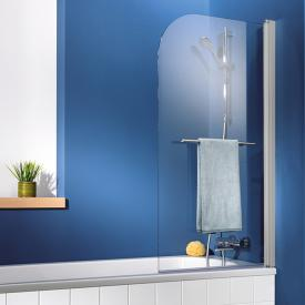 HSK Exklusiv Badewannenaufsatz 1-teilig mit Handtuchhalter ESG klar hell / silber matt