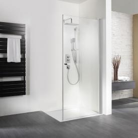 HSK Exklusiv Drehtür für Seitenwand ESG klar hell mit Edelglas / silber matt, WEM 88,5-90,5 cm