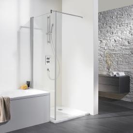 HSK Exklusiv wegschwenkbare Seitenwand klar hell / silber matt, WEM 88,5-90,5 cm