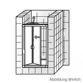 HSK Favorit Falttür in Nische klar hell Edelglas / silber matt, WEM 75,5-80,5 cm