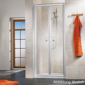 HSK Favorit Klapptür in Nische Kunstglas Tropfen hell / silber matt, WEM 70,5-75,5 cm